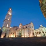 Lecce (Puglia, Italy): The main square at evening (Baroque style)